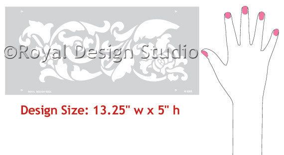 Thistle Border Stencils for Painted Walls and Ceilings - Royal Design Studio