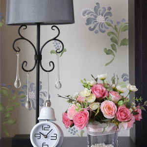 Decorating your home with Delicate Flower Stencils Wall Art DIY - Royal Design Studio