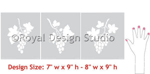 stencils set grape clusters diy wall mural art