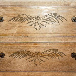 Classic Palms Leaves Furniture Stencils for Painting - Royal Design Studio