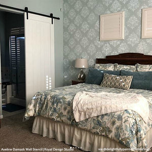 Aveline Floral Damask Wall Stencil
