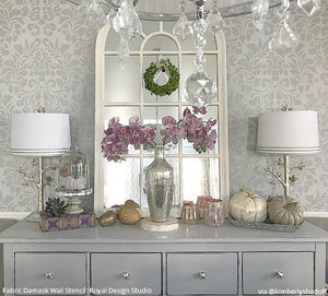 Grand Fabric Damask Wall Stencil