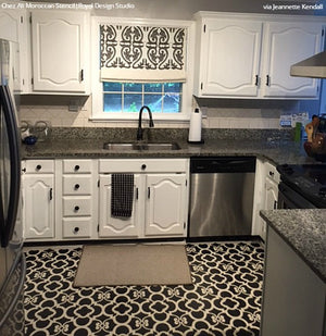 DIY Painted Kitchen Floor Stencils - Royal Design Studio