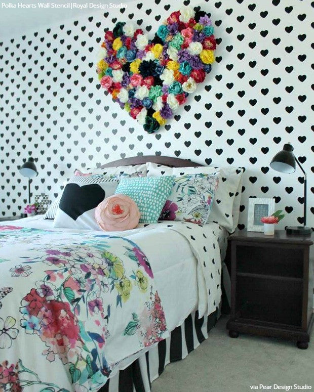 Detailed Butterfly Allover Wall Stencil