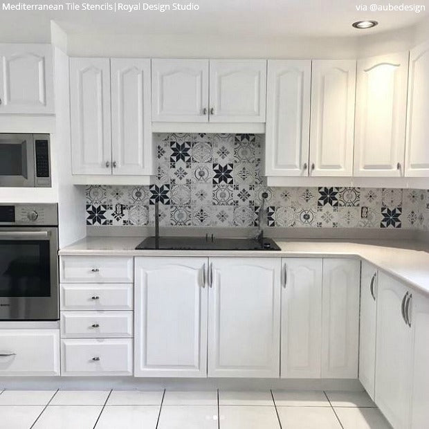 Painting Kitchen Tiles: Tile Stencils For Walls, Floors, And DIY Kitchen Decor