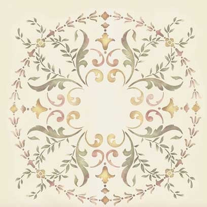 Stencils 19th Century Ceiling Stencil Medallion Royal
