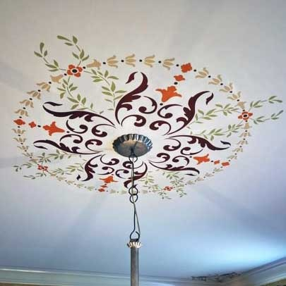 Victorian Ceiling Decor - Classic Paint Stencils with European Design - Wall and Ceiling Medallion Stencils - Royal Design Studio