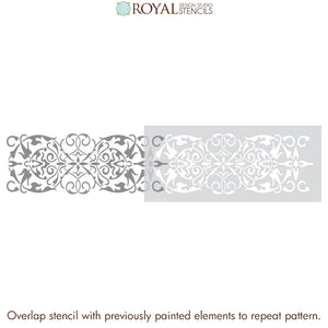Arabesque Border Stencil