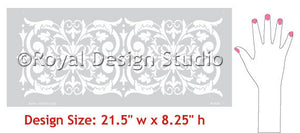 Villa Border Stencils designs