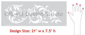 Flourish border stencil designs