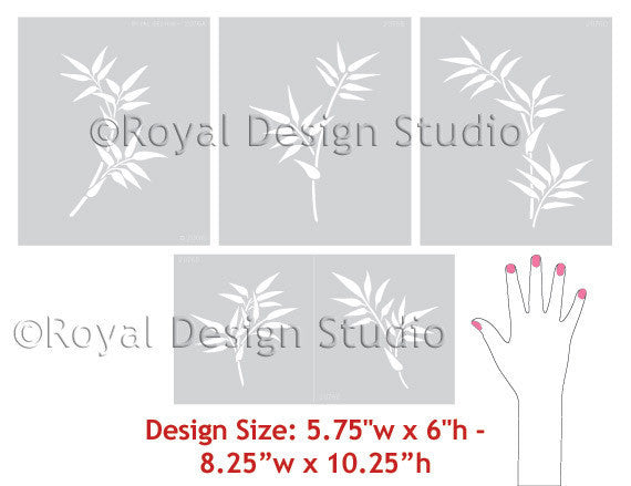 Delicate Bamboo Wall Stencils for Beautiful Asian Wall Art - Royal Design Studio