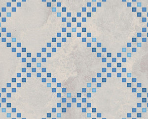 Squared Diamonds Moroccan Stencil