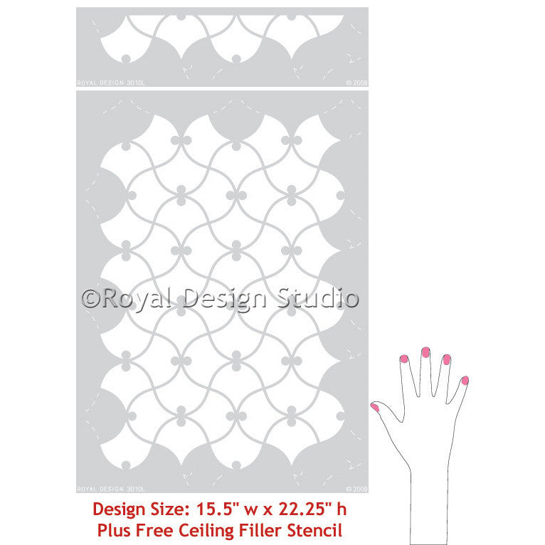 Moroccan Stencils for Exotic Home Decor - DIY Wall Stencils - Royal Design Studio