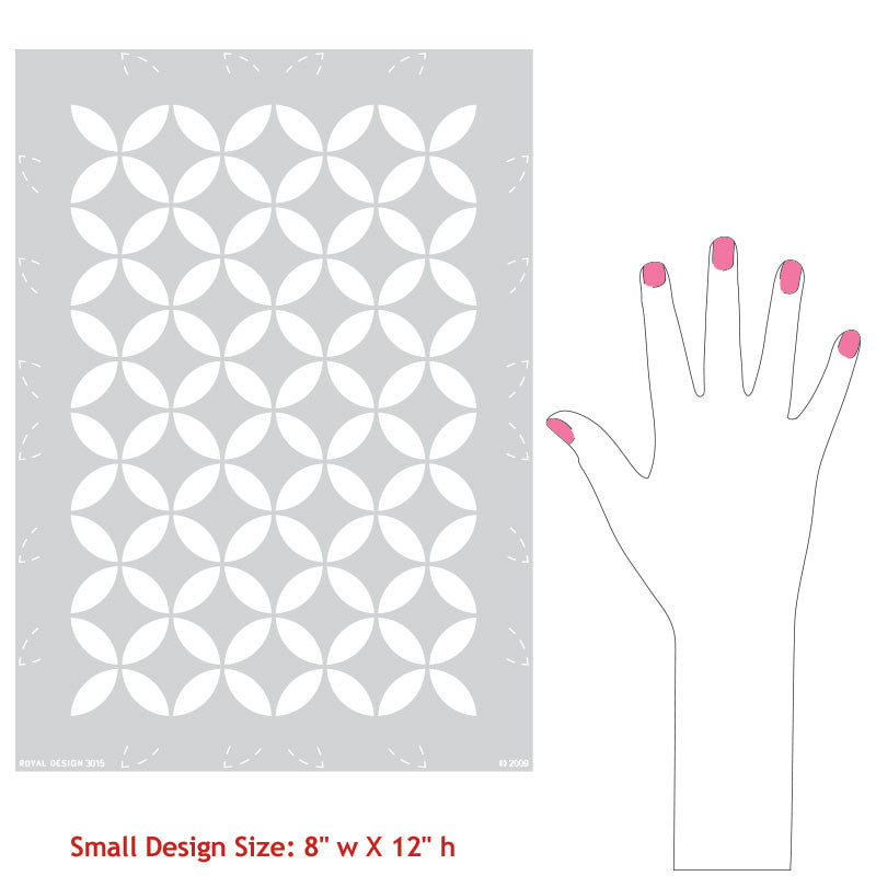 Endless Moorish Circles Moroccan Stencil
