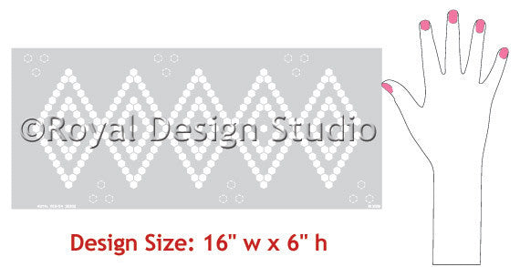 Moroccan Stencils Hexagons Border - Royal Design Studio - Modern and Geometric Diamond Shapes