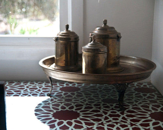 Chalk Paint Painted Furniture DIY Projects - Moroccan Stencils from Royal Design Studio