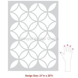 Endless Circles Lattice Moroccan Stencils patterns