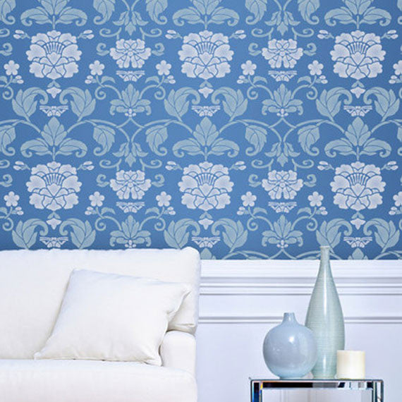 Large Designer Wall Stencils with Butterfly and Flower Designs for Painting Walls - Royal Design Studio