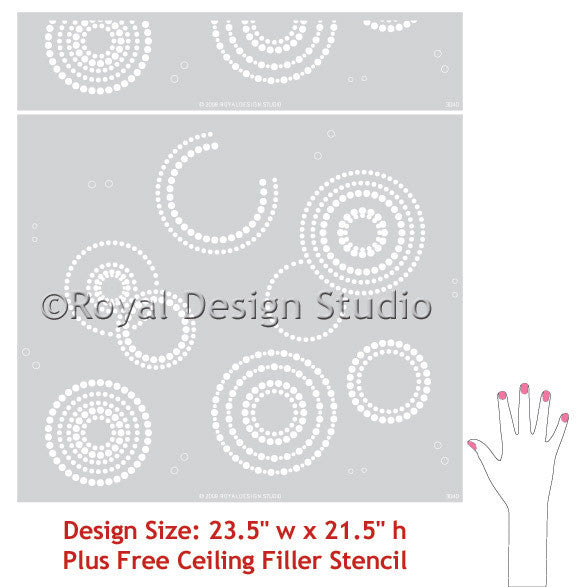 Modern Circle Shapes and Designs - Wall Stencils by Royal Design Studio