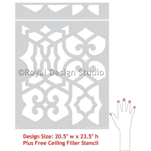 Paint an accent wall or furniture with Chez Sheik Moroccan Stencils