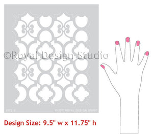 DIY Furniture Makeover using Moroccan Furniture Stencils - Royal Design Studio