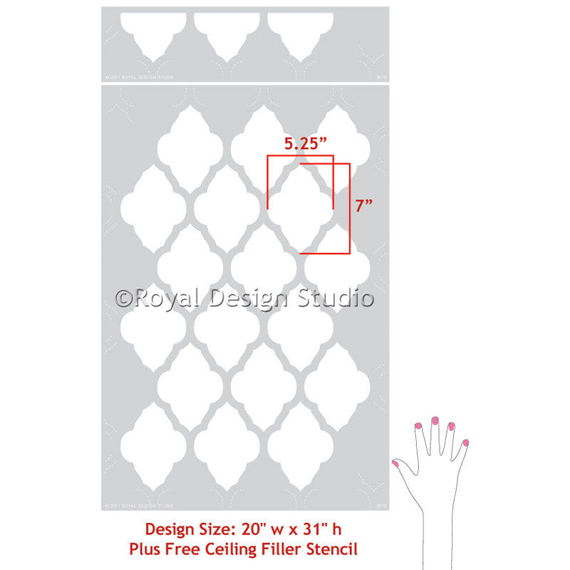 Moroccan Designs and Wall Stencils for Painted Wall Decor Patterns