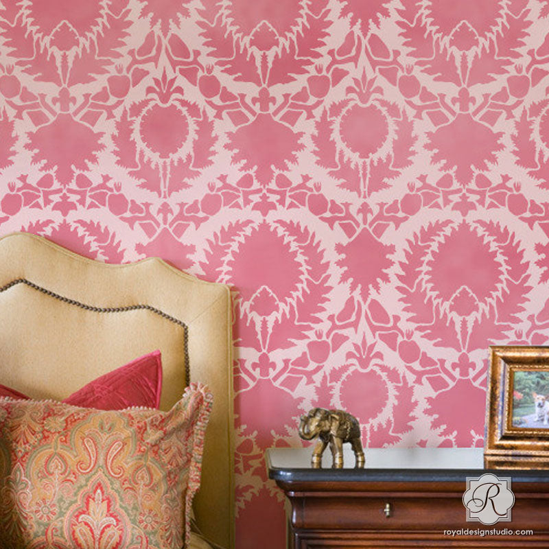 Wall Stencil | Silk Road Suzani Stencil | Royal Design Studio Stencils
