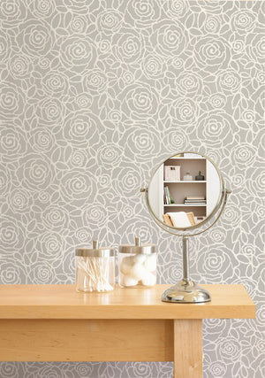 Damask Stencil Rockin' Roses Modern Flower Wall Stencil Pattern for Painting - Royal Design Studio