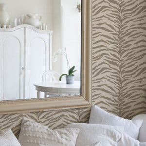 Tiger Stripes Allover Wall Stencil