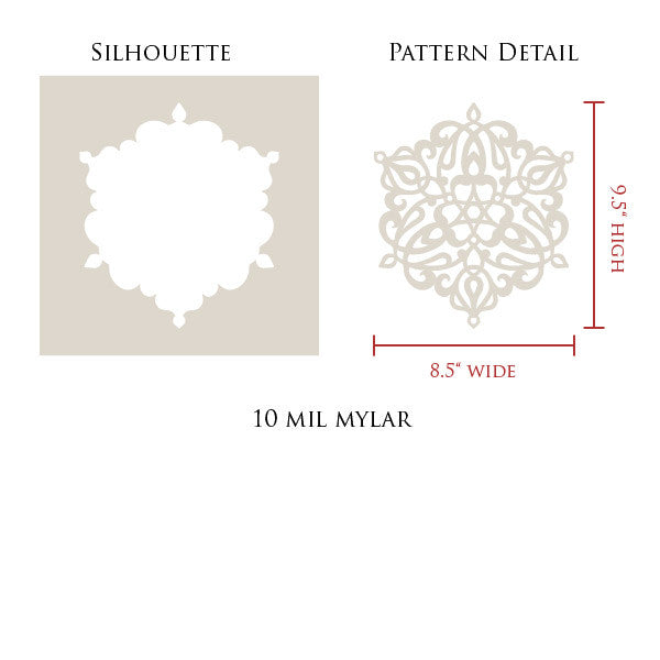 Ankara Impression A Stencil Design - Exotic Layered 3D Stenciled Wall Art - Royal Design Studio