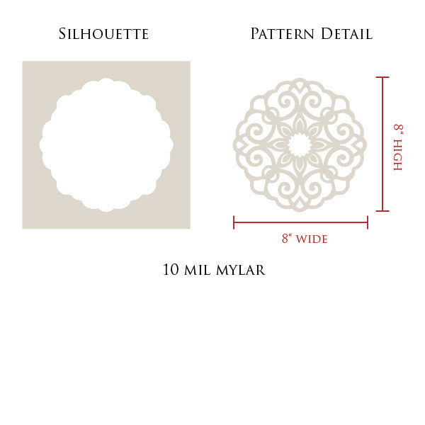 Decorative and Ornamental Lace Medallion Stencils - DIY Wall Mural Art with Pattern - Royal Design Studio