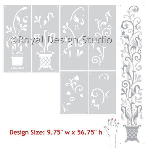 Classic European, Spanish, Italian Wall Mural Art Stencils - Royal Design Studio