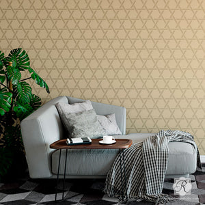 Cane Basketweave Wall Stencil