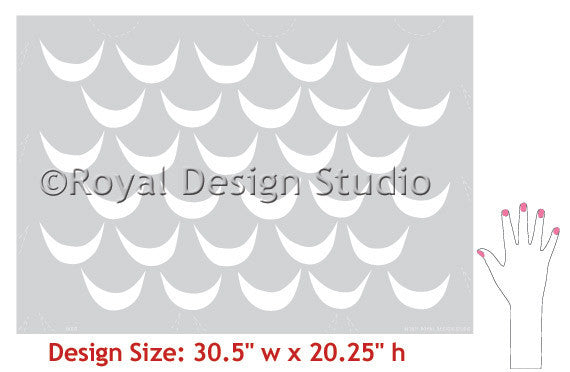 Tribal Wall Stencils with Tribal Wave Pattern on Accent Wall - Royal Design Studio
