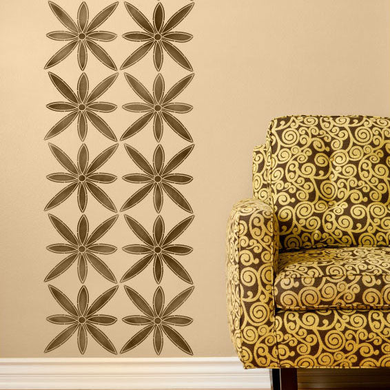 Exotic Home Decor using African Flower Wall Stencils