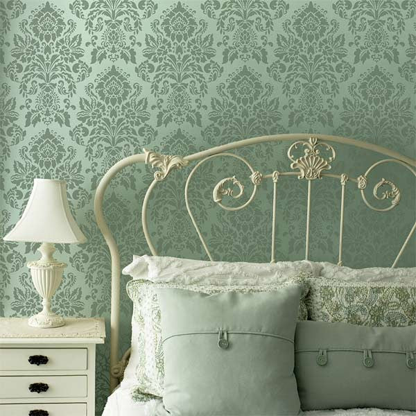 Large Damask Wall Stencils French Amp Vintage Wallpaper