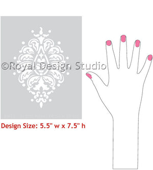 Easy to Use Walls Stencils for Indian Wall Art Patterns - Royal Design Studio