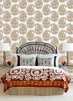 Indian Design for Exotic Decorating - Royal Design Studio Paisley Wall Stencils