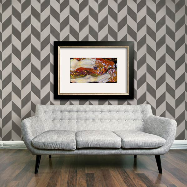 Herringbone Pattern Wall Stencils