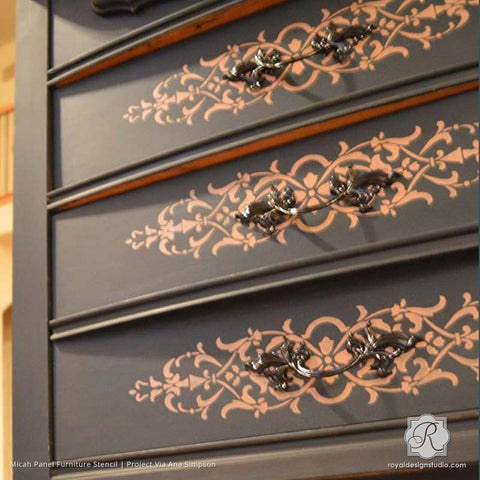Furniture Stencils for Painting Furniture - DIY Home Decor Projects ...
