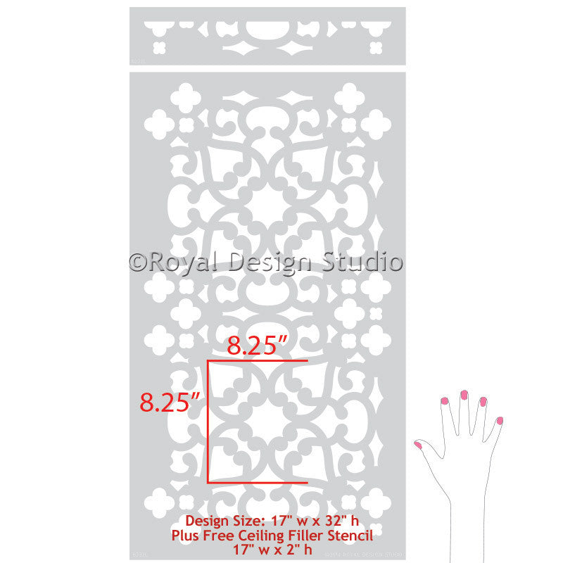 Painted Wall Stencils for Decorative and DIY Home Decor - Royal Design Studio moroccan stencils