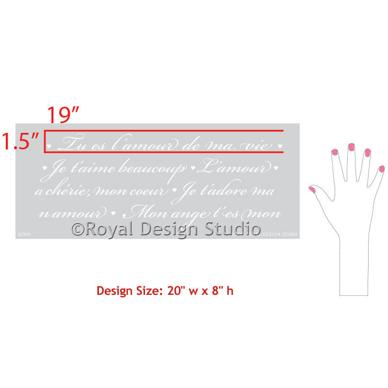 Painted Furniture Stencils with French Sayings - Royal Design Studio