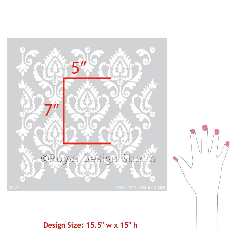 Wall Painting Stencils for Ethnic Inspired Home Decor - Royal Design Studio