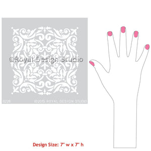 Stenciling Furniture for DIY Home Decor and Decorating - Royal Design Studio Tile Stencils and Damask Stencils