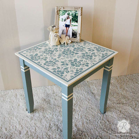 Merveilleux Painted Furniture With Flower Stencils   Spring Rose Blossoms Furniture  Stencils   Royal Design Studio