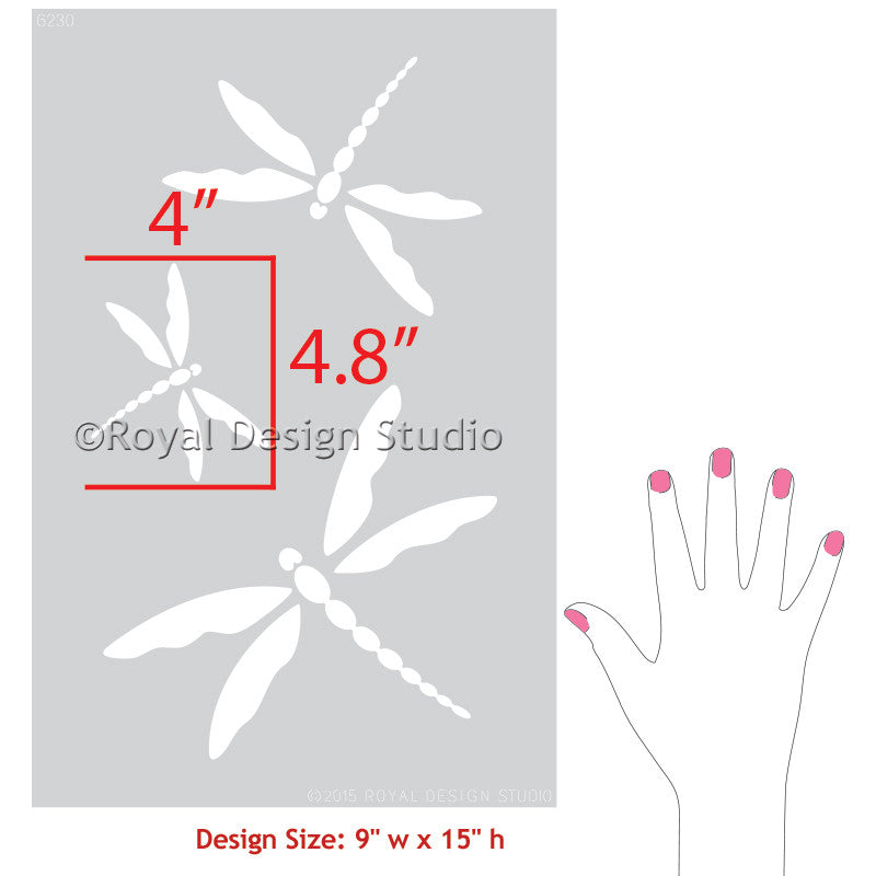 Dragonfly Wall Art dragonfly wall art stencil set | royal design studio stencils