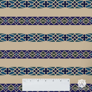 Fretwork Border Craft Stencil Set