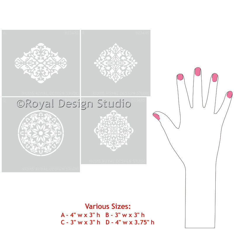 Arabesque Ornament Craft Stencil Set