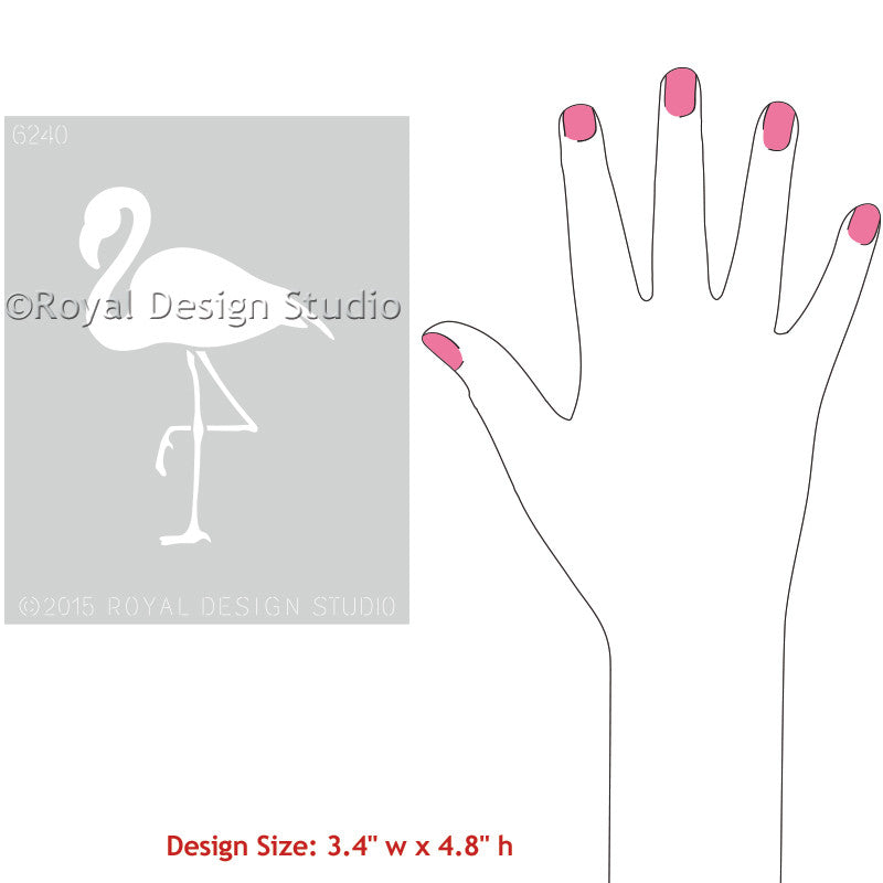 Flamingo Stencils and DIY Wall Art Designs - Royal Design Studio