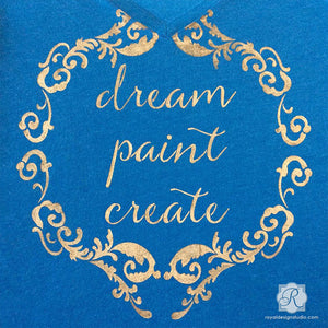 Stenciled Inspirational Wall Quotes for Decorating - Dream Paint Create Lettering Stencils - Royal Design Studio